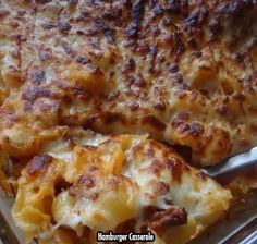 It's common knowledge that hamburger goes perfectly with cheese and noodles. If properly prepared, it will make your day! Check out my amazing hamburger casserole.  You'll Need: 1 lb box of medium shells. 1 lb of ground hamburger. 2