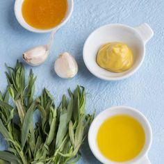 Marinade miel, moutarde et estragon