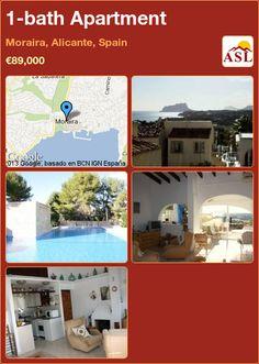 1-bath Apartment in Moraira, Alicante, Spain ►€89,000 #PropertyForSaleInSpain