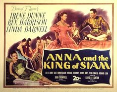 Anna And The King Of Siam Linda Darnell Irene Dunne Rex Harrison 1946. Tm And Copyright ? 20Th Century Fox Film Corp. All Rights Reserved. Courtesy: Everett Collection. Movie Poster Masterprint (28 x 22)
