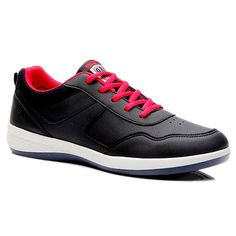 Concise Lace-Up and PU Leather Design Men's Athletic Shoes #Men #Shoes #fashion #style