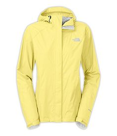 The North Face Women's Venture Jacket Hamachi Yellow - I WANT THIS RAIN JACKET!!!!