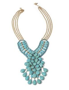 Turquoise Bead Cluster Necklace from Midnight Velvet.  This vibrant necklace makes a bold statement.
