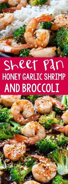 Sheet Pan Honey Garlic Shrimp and Broccoli - Peas And Crayons - #shrimpdinnerrecipes - Flavorful roasted broccoli and tender, juicy shrimp join forces in this super easy Sheet Pan Honey Garlic Shrimp and Broccoli. This one pan wonder makes a great fuss-free weeknight dinner!...