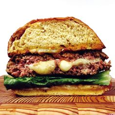 All your favorite parts of an Italian feast—mozzarella, marinara, meatballs and garlic bread— have come together to create a truly bellissimo burger. Click here for the recipe.   - Delish.com