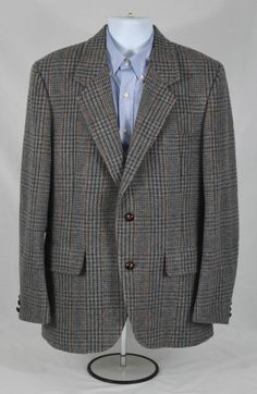 Mens Pendleton Vintage Sport Coat 2 Btn Multi Color Check Sz 42 Blazer Jacket  #Pendleton #TwoButton