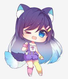 Art Trade With Merindity Kawaii Draw Drawing Anime Chibi Kawaii Anime Chibi Adorable Cute Dr. Anime Neko, Cute Anime Chibi, Anime Girl Cute, Kawaii Anime Girl, Manga Anime, Chibi Girl Drawings, Cute Kawaii Drawings, Chibi Kawaii, Kawaii Art