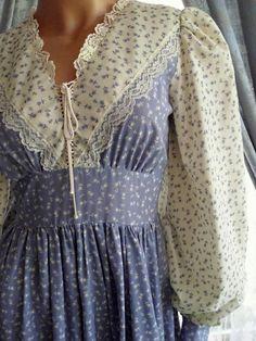 gunny sax patterns | Gunne Sax Dress Vintage Prairie Style Tie Corset by artemis53