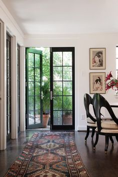 If I ever get a chance to build my own home, I want my dining/kitchen area to have multiple french doors so on really nice nights I can open them while we eat dinner. The doors would lead to patio with a pergola covered in greenery.