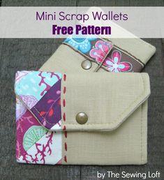 Mini Wallets – Scrap style - The Sewing Loft