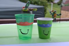 The ninja turtles party cups