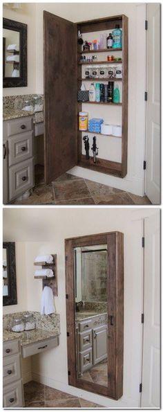 Rustic Mirrored Medicinne Cabinet