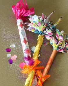 #Confetti wands help you toss and swirl colorful paper in the air when the clock strikes midnight! #NewYearsEve