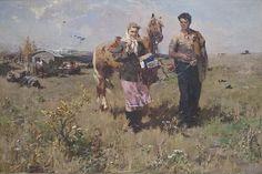 Моисеенко Евсей Евсеевич (1916-1988) «В степи» 1954