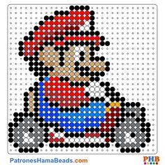 Mario Kart plantilla hama bead. Descarga una amplia gama de patrones en formato PDF en www.patroneshamabeads.com