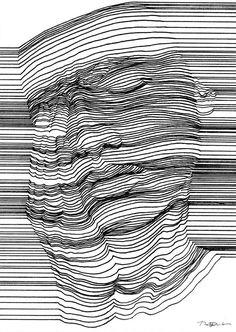 Tekeningen van naakten met optische illusies - EYEspired