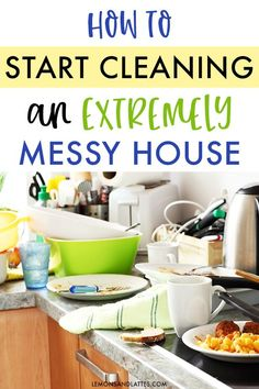 House Organization Ideas How to Clean a Messy House When You're Overwhelmed by Clutter Cleaning hacks to help you start cleaning a messy house. Even when you're completely overwhelmed by clutter! Deep Cleaning Tips, House Cleaning Tips, Spring Cleaning, Cleaning Hacks, Cleaning Checklist, Cleaning Lists, Cleaning Schedules, Speed Cleaning, Weekly Cleaning