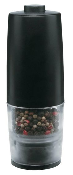 TRUDEAU One-Hand Battery Operated Pepper or Salt Mill Black $17.95 TOTAL PRICE...LOWEST PRICE GUARANTEE...PICK UP OR WE WILL SHIP FREE WORLDWIDE...100% MONEY BACK SATISFACTION GUARANTEED...WEBSITE: www.shopculinart.com