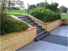 Deck Pictures, Wooden Terrace, Garden Bridge, Outdoor Structures, Landscape, Outdoor Decor, Terrace Ideas, Front Porches, Decks