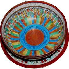 #Vintage online at www.rubylane.com @ruvylanecom -- Bowl and Under-plate in Thousand Faces, Made in Japan, circa 1930