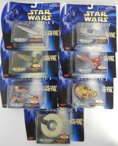 MINT SEALED Star Wars Episode I Micro Machines Die-Cast SET / LOT (7) 1999 SWAF in Collectibles | eBay