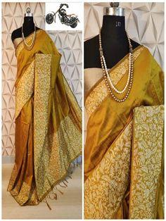 Stylish Look Multi Color Raw Silk Weaving Saree With Rich Pallu -Style Array Designer Sarees Collection, Saree Collection, Banarsi Saree, Lehenga, Festival Wear, Festival Fashion, Work Sarees, Silk Sarees Online, Sari Fabric