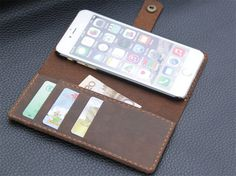 LetteringiPhone 6 plus case iPhone 6s plus case by CollLeatherShop