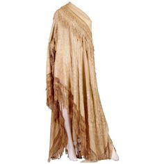 Preowned Antique Victorian Chinese Embroidered Fringe Shawl Valance ($2,800) ❤ liked on Polyvore featuring home, home decor, window treatments, curtains, gown, shawls, beige, cream curtains, ivory silk curtains and cream colored curtains