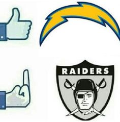 San Diego Chargers ~ my boyfriend is a Raiders fan and we have a constant debate and I win!!