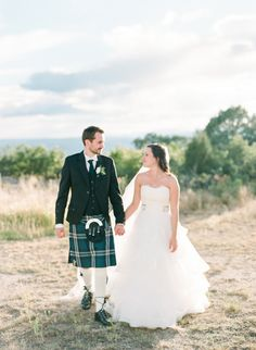 Wedding Dress: Anne Barge Collection - http://www.stylemepretty.com/portfolio/anne-barge-collection Groom's Attire: Slan J Kilts - http://www.stylemepretty.com/portfolio/slan-j-kilts Photography: Connie Whitlock Photography - conniewhitlockphoto.com/   Read More on SMP: http://www.stylemepretty.com/2016/01/19/elegant-traditional-scottish-wedding-in-colorado/