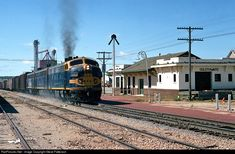 RailPictures.Net Photo: ATSF 283C Atchison, Topeka & Santa Fe (ATSF) EMD F7(A) at Goldthwaite, Texas by Steve Patterson