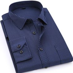 Large Size Mens Business Casual Long Sleeved Shirt - buy Online – Gembonics