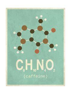 Molecule Coffeine Giclee Print at AllPosters.com