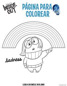 Figura para colorer Inside Out sadness