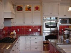 Custom cabinet w/display hutches on top