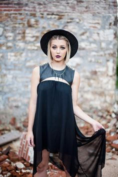 Dress- Unif, Hat- Forever 21, Necklace- By Samii Ryan