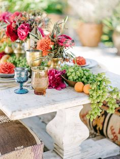 Floral Design : Holly Flora | Caterer : Haute Chefs LA Read More on SMP: http://www.stylemepretty.com/living/2015/09/14/moroccan-backyard-soiree/