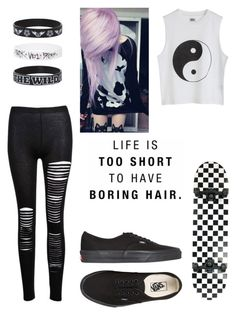 """Untitled #66"" by arachnofobia ❤ liked on Polyvore featuring beauty and Vans"