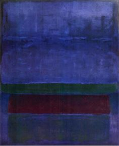 Blue, Green, and Brown, 1952 by Mark Rothko
