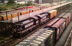 My Christmas present from an old RF&P Railroad worker, two RF&P engines photo at Potomac Yards, Alexandria, Va.