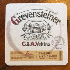 Grevensteiner Bierdeckel - Gütersloh - Neue Stimmen - 14.10.17 Beer Coasters, Beer Labels, Brewing, Beer Bottle Caps