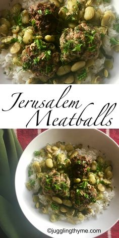 "Jerusalem Meatballs with Lima Beans and Lemon are a HUGE favorite with my family! recipe adapted from ""Jerusalem: A Cookbook"" by Yotam Ottolenghi and Sami Tamimi"