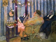 Édouard Vuillard (French, Intimism, 1868-1940): Sacha Guitry in his Dressing Room, 1912. Pastel on paper, 97.5 x 74.9 cm. Private Collection.