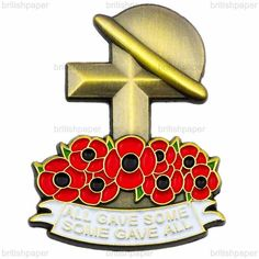 Soldier Lapel Pin Badge Poppy Day Remembrance Cross Helmet Soldier Army Military