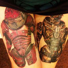 Mass Effect | Garrus & Wrex Tattoo http://uglybob.tumblr.com/post/70558108051