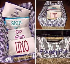 Family game storage! Personalized Your Way Basket and Mini Zipper Pouch #31party #31uses #31canada