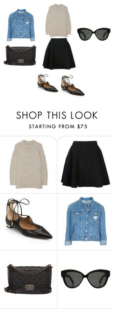 """Untitled #656"" by kaittd on Polyvore featuring Michael Kors, Avelon, Aquazzura, Topshop, Chanel and Linda Farrow"