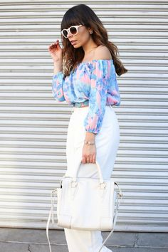 Stiletto Beats / OOTD / Wide Leg Trousers / Off The Shoulder blouse