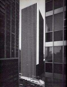 EERO SAARINEN, the CBS Building, New York, 1960. / 33arquitectures