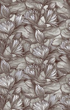 Egyptian Lotus pattern by Lindsay Nohl